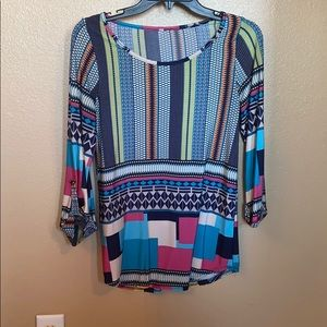 Tops - Blouse with 3/4 sleeves